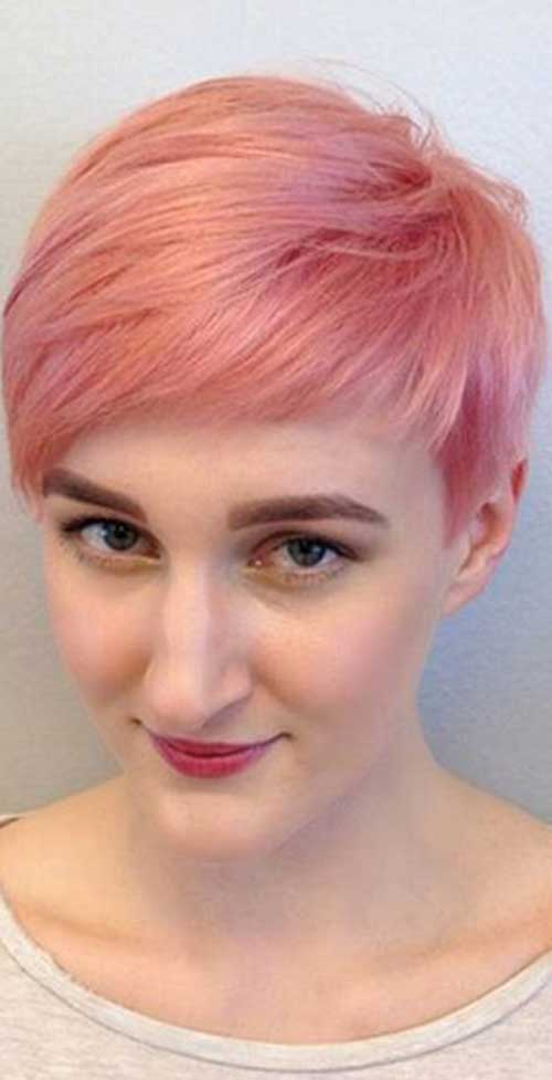 Pink Pixie Hair Cut