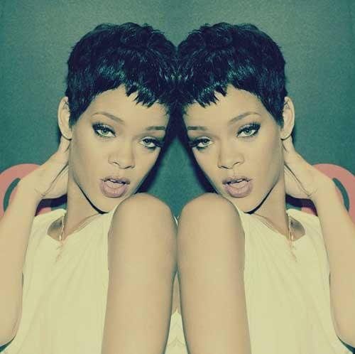 Rihanna Pixie Cut