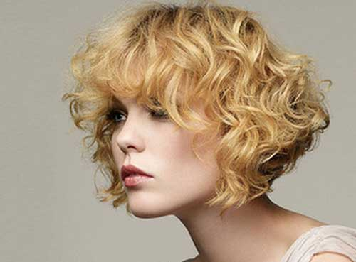 Short Curly Hair With Bangs And Layers 74