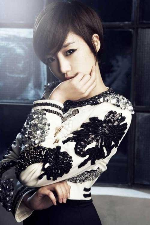 11. Cute Asian Pixie Cut