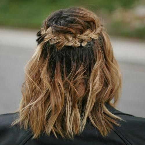 11.Braided Hairstyle For Short Hair