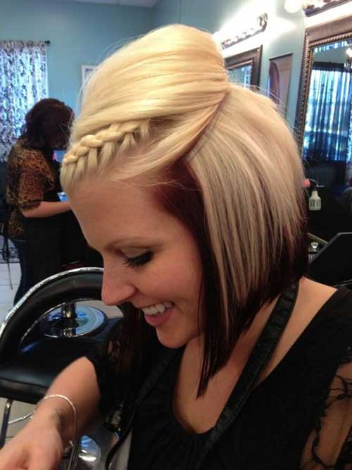 12.Braided Hairstyle For Short Hair