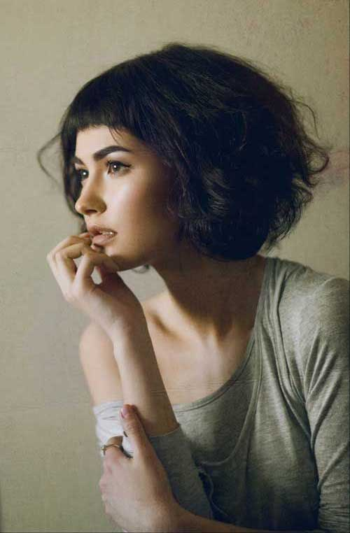 Hairstyles for Short Hair with Bangs-12