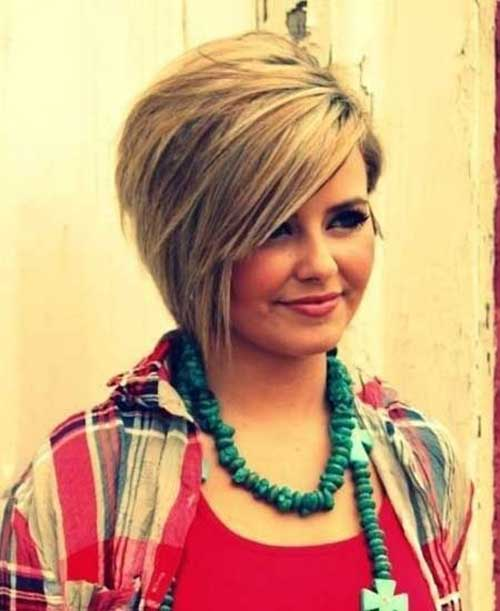 Short Haircuts for Round Faces-13