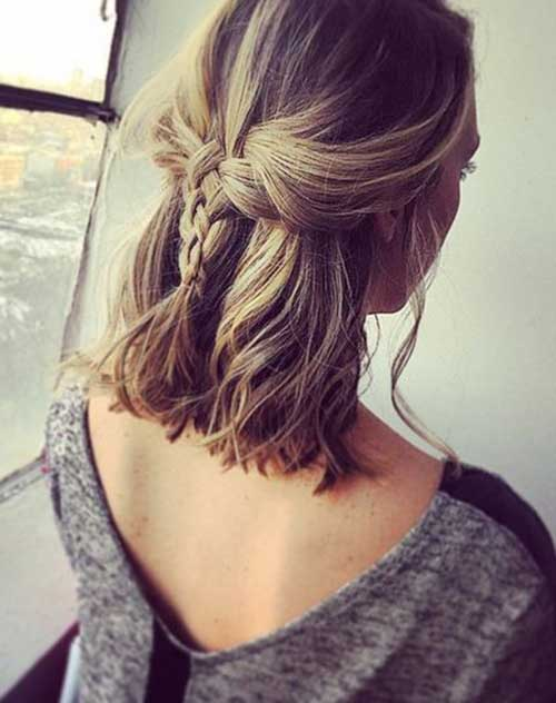 13.Braided Hairstyle For Short Hair