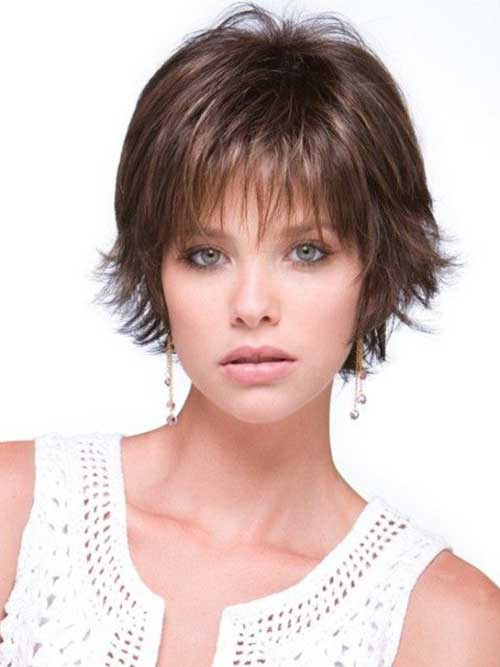 14. Short Haircut for Round Faces