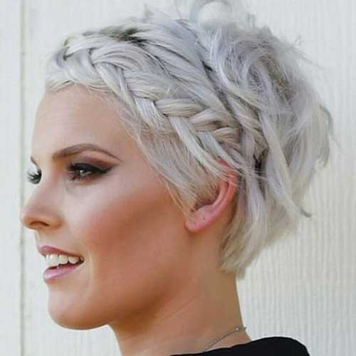 14.Braided Hairstyle For Short Hair
