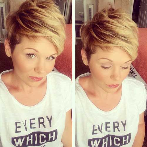 14.Cute Way To Style Short Hair