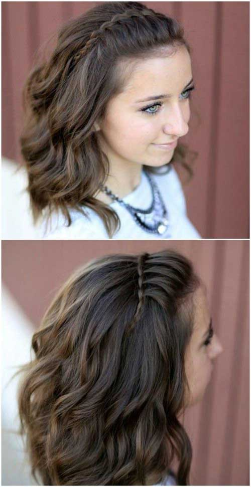 15.Braided Hairstyle For Short Hair