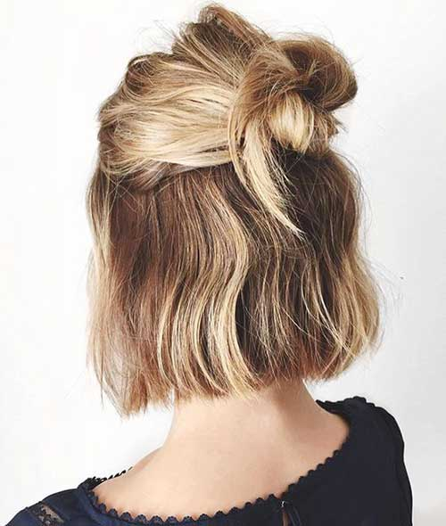 cute ways to style your hair for school 20 haircuts hairstyles amp haircuts 2018 4621 | 19.Cute Way To Style Short Hair