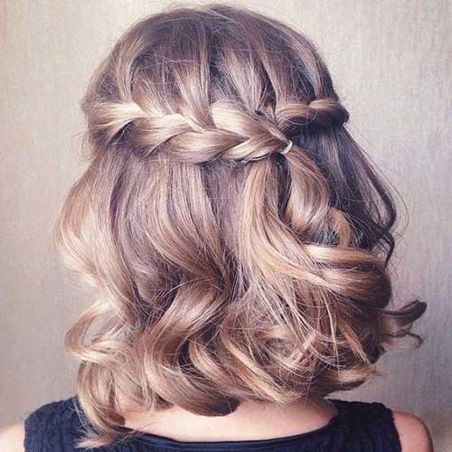 2. Braided Hairstyle For Short Hair