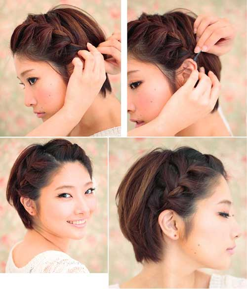3. Cute Braid For Short Hair