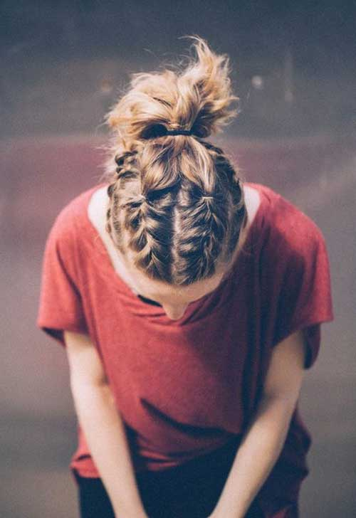 6.Braided Hairstyle For Short Hair