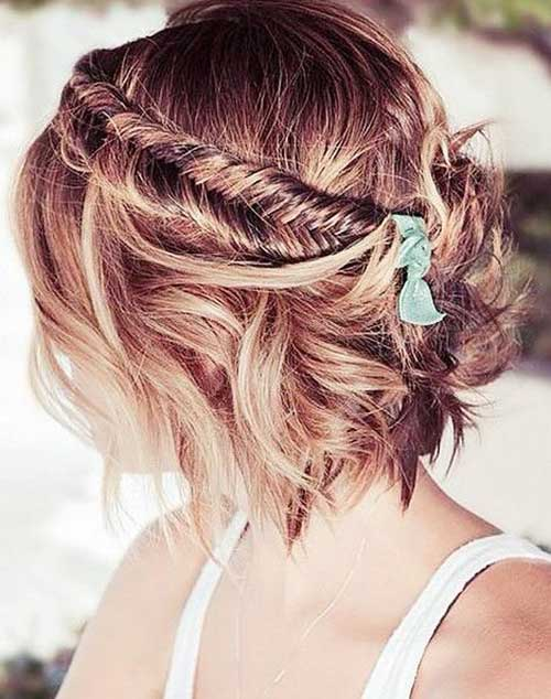 Braided Hairstyles For Short Hair-7