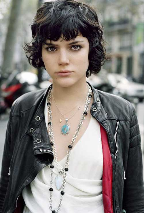 7.Hairstyle for Short Hair with Bangs