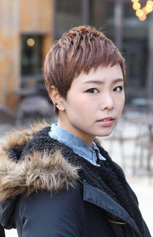 8. Cute Asian Pixie Cut