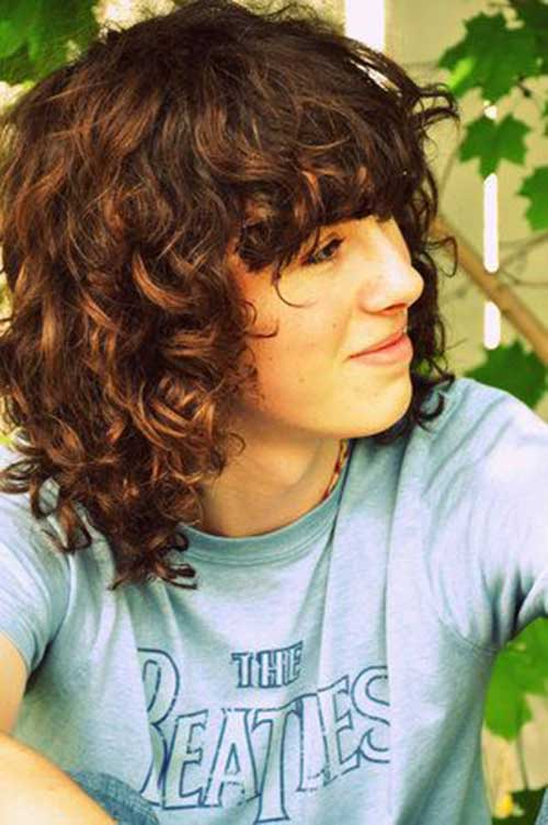 Sensational Pics Of Curly Hair With Bangs Short Hair Fashions Hairstyles For Women Draintrainus