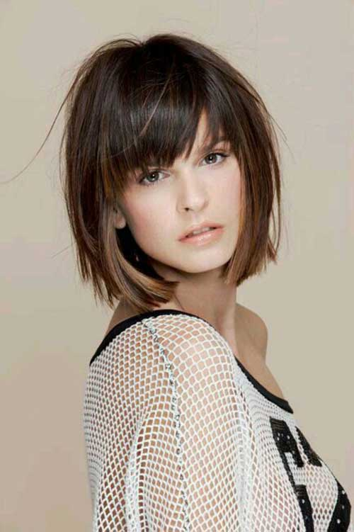 Short Hairstyles with Bangs-8