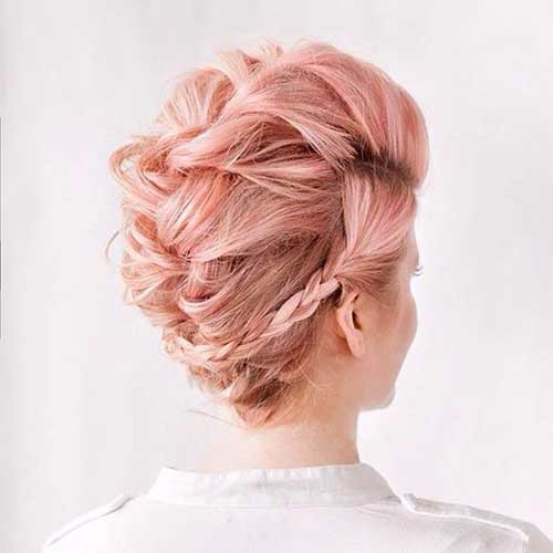 9.Braided Hairstyle For Short Hair