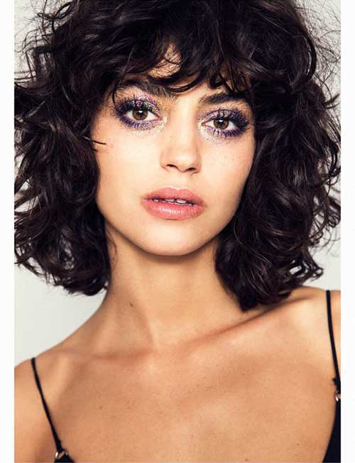 Short Hairstyles with Bangs-9