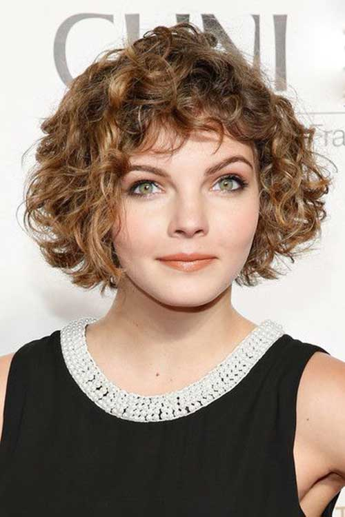 20 Short Curly Hair With Bangs Short Hairstyles