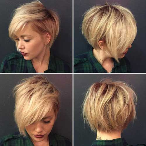 Round Face with Short Hair