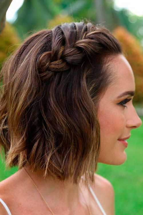 Different Braided Short Hairstyles Ideas Short