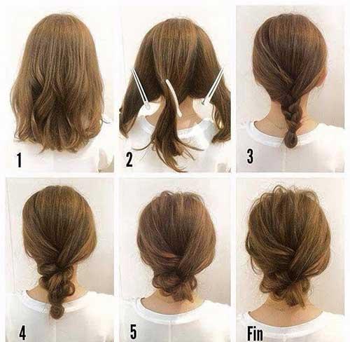 9.Cute Hairstyle for Short Hair