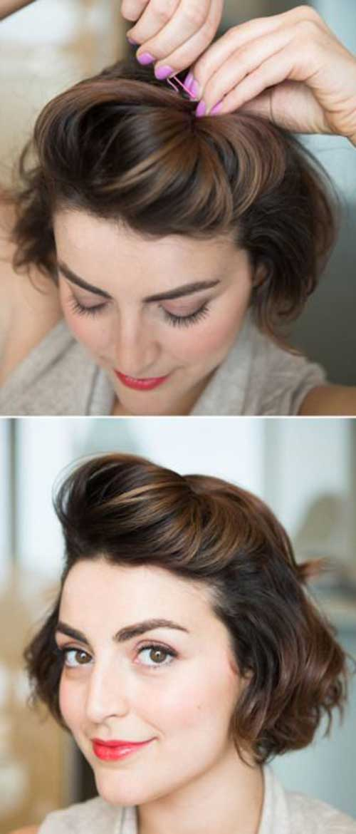 Hairstyles for Girls with Short Hair-9