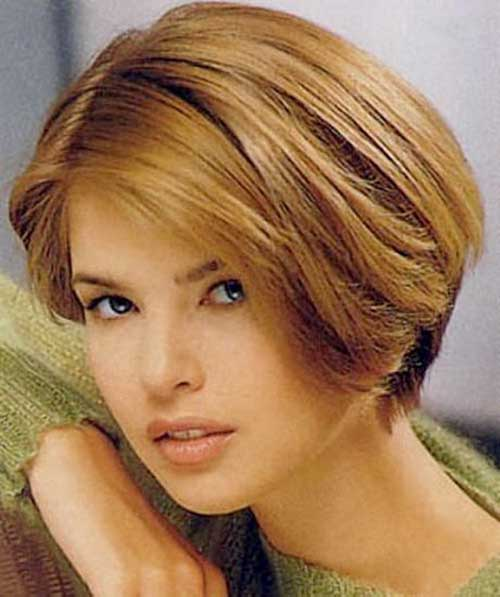Very Pretty Short Hairstyles for Round Faced La s