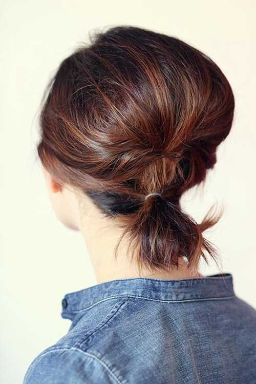 10.Short Updo Hairstyle