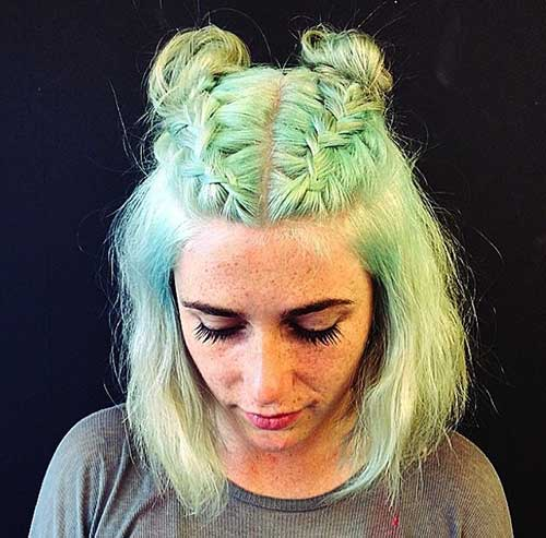 9.Short Updo Hairstyle