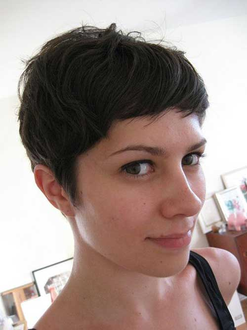 Dark Brown Short Haircuts-10