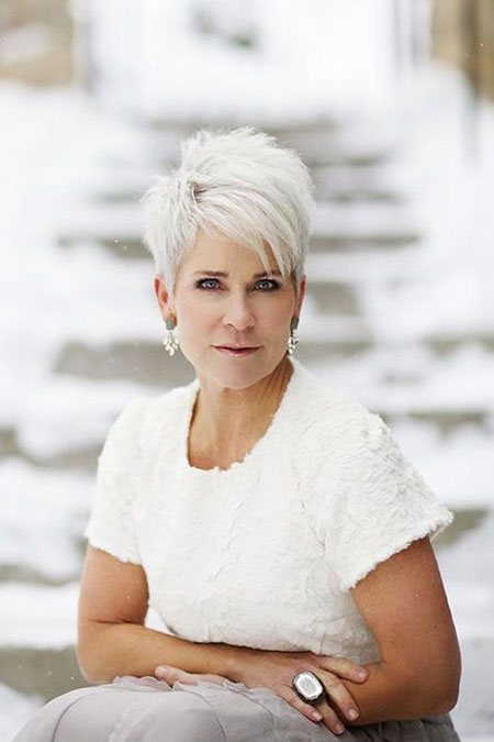 Pixie Hair, Women, Over, 50, Williams, Wedding