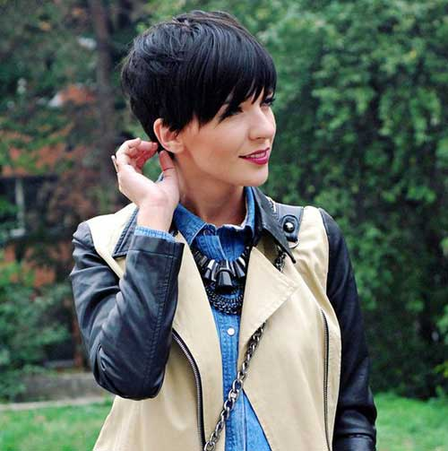 Dark Brown Short Haircuts-12