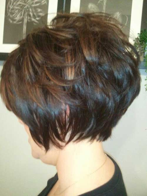 Dark Brown Short Haircuts-13