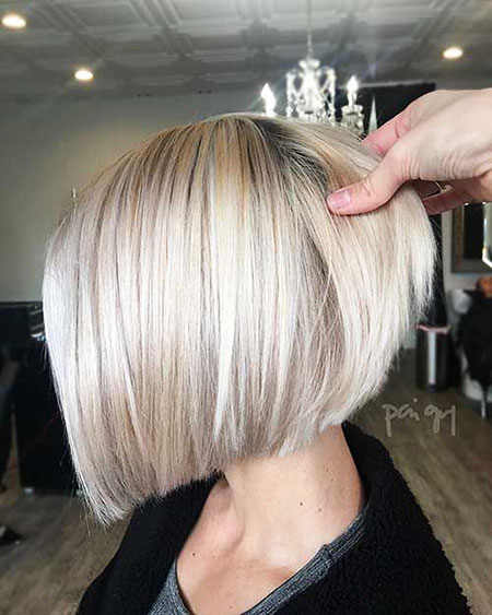 Straight Bob, Bob, Blonde, Women, Bobs, Silver, Really