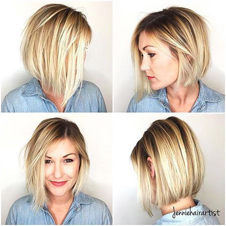 Blonde Hair, Bob, Kaley, Frisyrer, Cuoco, Blonde