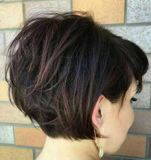 Dark Brown Short Haircuts-15