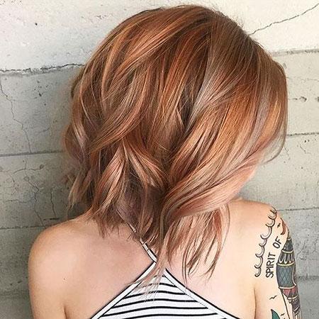 Medium Leght Balayage Hair, Women, Balayage, without, Trendy
