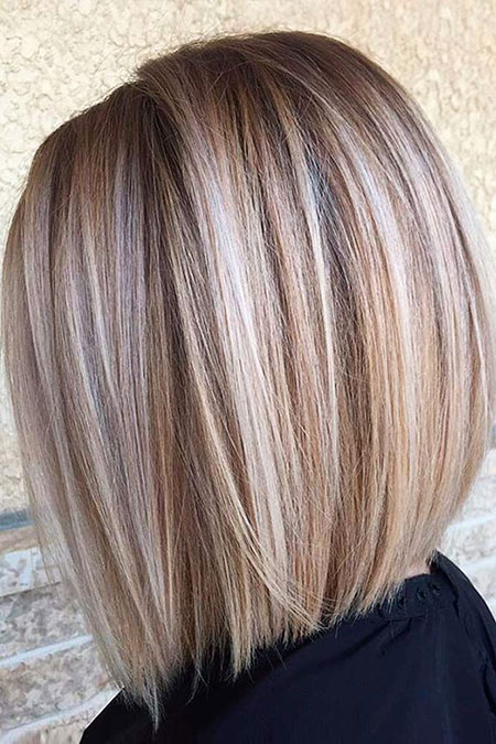 Stacked Hair, Blonde, Bob, Stacked, Sassy, Highlights, Trendy, Lowlights