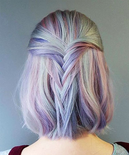 Rainbow Hair Color, Women, Rainbow, Bob