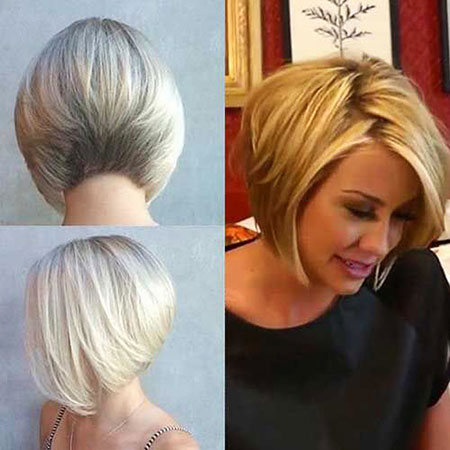 Short Hairstyles for Women, Round, Face, Bob, Women, Stacked