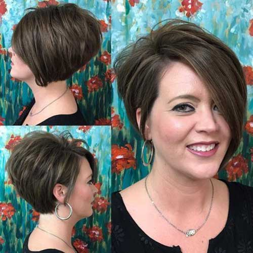 Dark Brown Short Haircuts-6