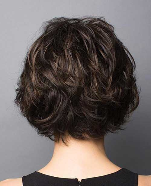 Dark Brown Short Haircuts-7
