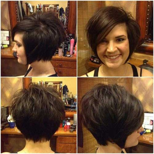 Dark Brown Short Haircuts-8