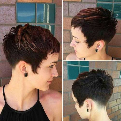 Dark Brown Short Haircuts