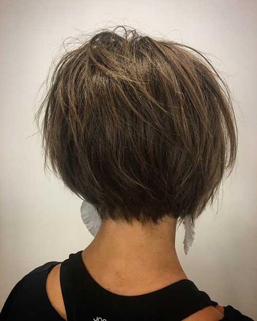 Short Dark Brown Haircuts