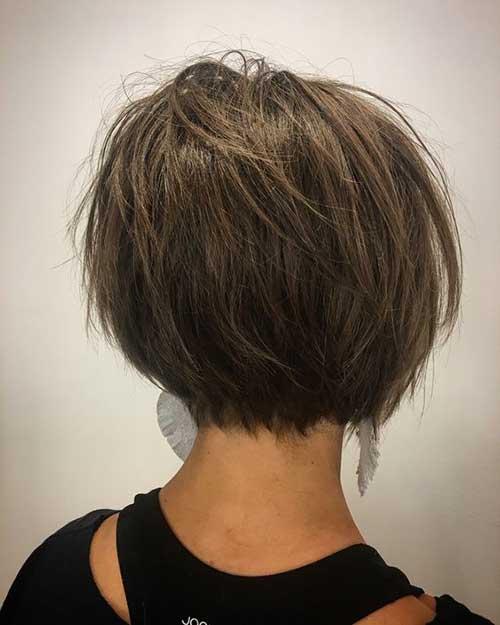 Short Dark Brown Haircut