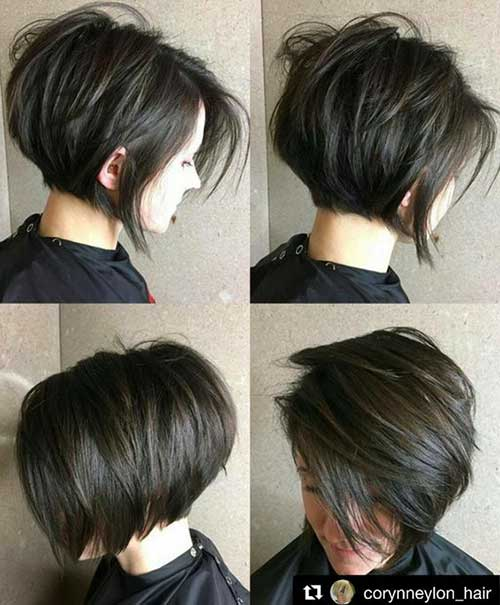Short Dark Brown Hairstyles